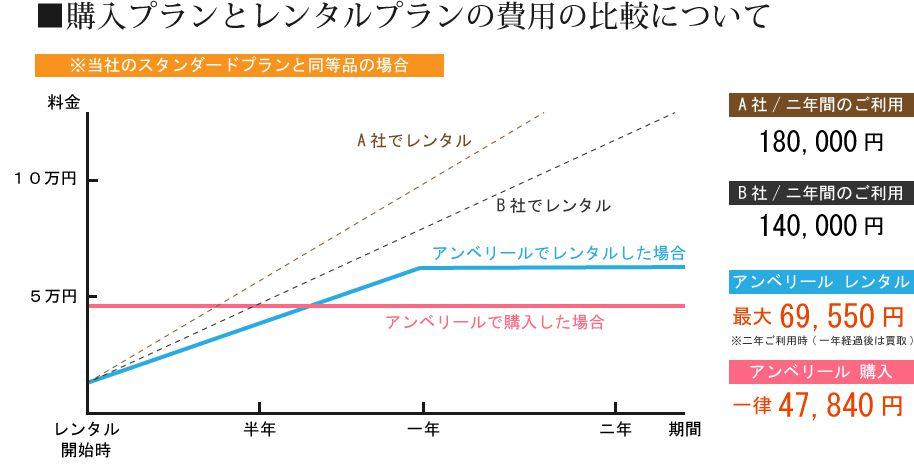 購入とレンタルの比較